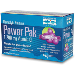 Trace Minerals Electrolyte Stamina Power Pak - Concord Grape 32 Servings