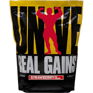 Universal Nutrition Real Gains 6.85 lb - Strawberry Ice Cream