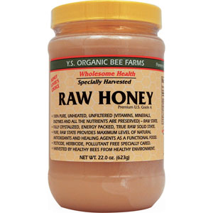 YS Organic Bee Farms Raw Honey 22 oz
